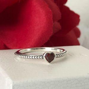Pandora Heart Ring: One Love Red